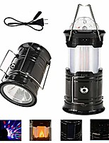 cheap -collapsible led camping lanterns, solar lanterns with flickering flame light, 4 in 1 rechargeable portable and switchable outdoor lantern for emergency, power outage and party, 1 pack