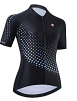 cheap -Women's Short Sleeve Cycling Jersey Black Polka Dot Bike Top Mountain Bike MTB Road Bike Cycling Breathable Quick Dry Sports Clothing Apparel / Stretchy / Athletic
