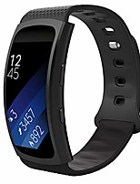 """cheap -watch band compatible with samsung gear fit2 / gear fit2 pro, soft silicone replacement sport band for samsung gear fit 2 sm-r360 / fit 2 pro smart watch, black (fits 5.90""""-8.38"""")"""