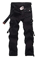 cheap -men baggy army cargo pants military style tactical pants combat pockets outdoors multi-pocket work trouser black 28