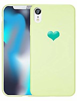 cheap -case with heart design slim protective soft liquid silicone bumper [support wireless charging] cover for iphone xr 6.1 inch (avocado green)