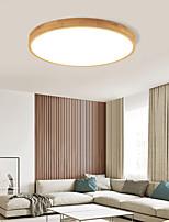 cheap -30/40/50 cm LED Ceiling Light Round Wood Nordic Flush Mount Lights Nature Inspired LED Bedroom Light Sitting Room Lights 110-120V 220-240V
