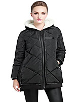 cheap -women's thickened winter coat slim md-long down jacket black s