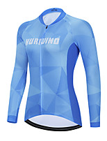 cheap -Women's Long Sleeve Cycling Jersey Winter Blue Bike Top Mountain Bike MTB Road Bike Cycling Breathable Quick Dry Sports Clothing Apparel / Stretchy / Athletic