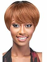 cheap -ombre 1b/t30 short brazilian human hair wigs 2 tone straight machine made wigs for black women(1b/t30)