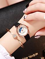 cheap -Women's Quartz Watches Quartz Stylish Fashion Casual Watch Analog Black Blushing Pink Orange / One Year / PU Leather