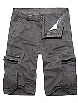 cheap -summer fashion mid-rise men's shorts loose casual multi-pocket tooling pants
