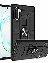 cheap -galaxy note 10 case with hd screen protector,  360°rotation ring holder kickstand [work with magnetic car mount] pc+ tpu phone case for samsung note 10 5g release, black