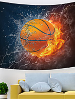 cheap -Wall Tapestry Art Decor Blanket Curtain Picnic Tablecloth Hanging Home Bedroom Living Room Dorm Decoration Polyester Modern Novelty Thunder Fire Basketball