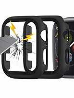 cheap -(2 pack)  compatible for apple watch series 3 series 2 42mm case with screen protector, thin full coverage pc hard cover with tempered glass screen for iwatch accessories- black