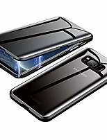 cheap -anti-spy case for samsung galaxy s8,  360 degree front and back privacy tempered glass cover, anti peeping screen, magnetic adsorption metal bumper for samsung galaxy s8 (black)