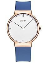Недорогие -женские часы, леди простой модный дизайн повседневное деловое платье аналоговые кварцевые силиконовые наручные часы (синий)