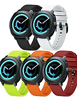 cheap -compatible gear sport band replacement 20mm silicone watch band compatible samsung gear sport/galaxy watch (42mm)/ticwatch e/ticwatch 2/vivoactive 3 watch - small 5pcs pack