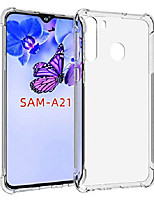 cheap -galaxy a21 case, samsun a21 case clear, soft tpu case crystal transparent slim anti slip case back protector case cover for samsung galaxy a21 (clear)