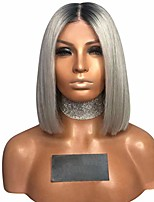 cheap -synthetic hair lace front wig straight hair 14 inches lace wigs for black women ombre synthetic hair lace front wig (multicolor)