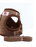 cheap -double padded pet freedom no choking dog harness and lead set for walking, escape proof dog vest harnesses for puppies small dogs brown boy
