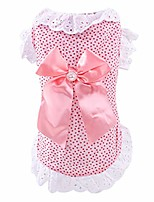 cheap -pet dog girl puppy summer bottoming bowknot harness dress clothes shirts skirt costume s m l xl