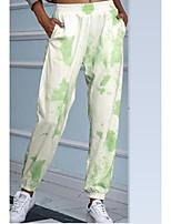 cheap -Women's Comfort Daily Pants Pants Patterned Full Length Print Blue Purple Green