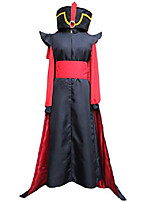 cheap -mens black red costume suits halloween cosplay robe coat hat outfit (xs)