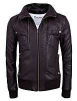 cheap -mens stylish hidden hoodie zip-up bomber jacket twpj02-black-us m