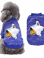 cheap -pet dog clothes soft thickening warm pup dogs shirt winter warm puppy clothing cute halloween pumpkin print dog sweatshirt pullover tops pet fall sweaters for kitten puppies apparel