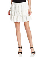 cheap -women's justina tiered flared skirt, off white, large