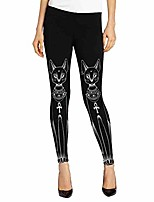 cheap -women egyptian cat stamp hippie gothic skinny casual pants tights leggings m black m trousers for women