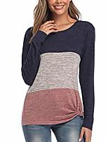 cheap -women's t-shirts comfy hoodie casual long sleeve shirts bllouse blue orange medium