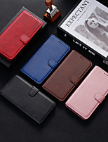 cheap -Case For OPPO OPPO A59 / OPPO A53 / OPPO A7 Shockproof Full Body Cases Solid Colored PU Leather / TPU