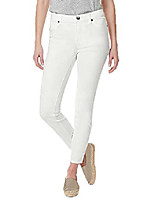 cheap -womens super stretch skinny ankle grazer pant (10, white)
