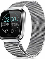 cheap -fitness watch heart rate monitor catshin ip68 smart watch waterproof pedometer calroies counter sleep monitor remote camera control message notification sports smartwatch for android ios (silver)