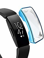 cheap -tpu case for fitbit inspire/inspire hr full coverage plating tpu watch case(black). (color : blue)