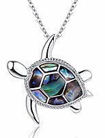 cheap -925 sterling silver turtle necklace sea turtle gifts abalone shell pendant jewelry anniversary friendship birthday gift women christmas gifts stocking stuffers for her