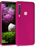 cheap -tpu silicone case compatible with samsung galaxy a9 (2018) - soft flexible protective phone cover - metallic pink