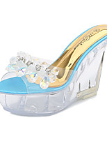 cheap -Women's Dance Shoes Pole Dancing Shoes Heel Thick Heel Blue Pink Beige Loafer Adults'
