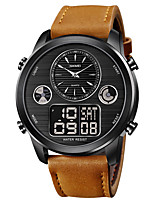 cheap -SKMEI Men's Sport Watch Digital Modern Style Stylish Outdoor Water Resistant / Waterproof Analog - Digital Black / Silver Black Black / Brown / One Year / Leather