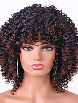cheap -curly afro wig with bangs short kinky curly wigs for black women synthetic heat resist soft hair short curly afro black wig (1b/33)…