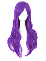 cheap -28inch 70cm Long Curly Hair Ends Costume Cosplay Wig