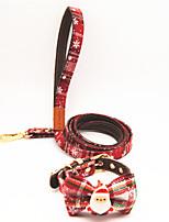 cheap -Dog Cat Collar Christmas Dog Collar Tie / Bow Tie Adjustable Flexible Outdoor Walking Santa Claus Snowman Christmas Tree PU Leather Golden Retriever Corgi Bulldog Bichon Frise Schnauzer Poodle Red