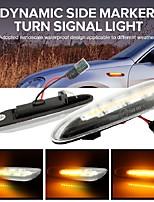cheap -2pcs Smoke Lens Dynamic Amber LED Indicators Blinker Side Marker Turn Signal Light for BMW E90 E91 E92 E93 E60 E61 E46 E81 X1 X3 2 Colors To Choice