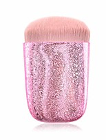 cheap -prime deals day deals 2020-bling glitter diamond makeup brush soft nylon bristles premium flat head plastic frosted handle kabuki makeup brush for liquid foundation brushes women gifts (pink)