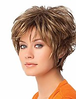 cheap --fashion short curly brown women hair wig dyed synthetic lady cosplay hairpiece
