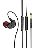 cheap -LITBest 6 Wired In-ear Earphone 3.5mm Audio Jack Stereo Dual Drivers with Microphone with Volume Control InLine Control for Sport Fitness