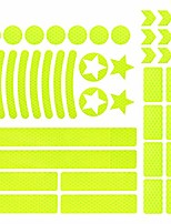 cheap -42 pieces reflective sticker, high visibility safety reflective stickers kit, reflective safety helmet stickers for bicycles, cars, motorcycles, pushchairs, etc
