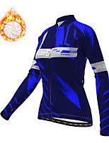 cheap -21Grams Women's Long Sleeve Cycling Jacket Winter Fleece Polyester Purple Yellow Blue Bike Jacket Top Mountain Bike MTB Road Bike Cycling Thermal Warm Fleece Lining Breathable Sports Clothing Apparel