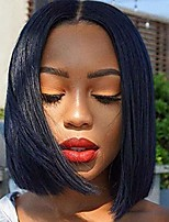 cheap -short bob lace closure wigs human hair 4x4 lace closure wigs brazilian straight human hair wigs for black women 130% density pre plucked natural color (8, 4x4 bob)