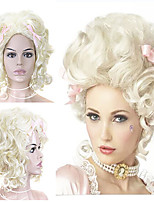 cheap -Blonde Wig Fluffy Ladies Short Curly Hair Blonde European And American Fashion Wig Makeup Show Wig