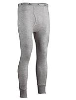 cheap -men's two-layer performance thermal underwear pant with silvadur, heathergrey, medium
