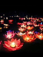 cheap -water floating candle lanterns outdoor lanterns for praying - set of 15 floating lotus lights wishing water lily candles light decorative floating candles lantern