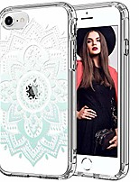 cheap -iphone se 2020 case,iphone 8 case,iphone 7 case with screen protector,clear with fashion designs for girls women,shockproof protective phone case for iphone 7/8/se 2020 teal henna